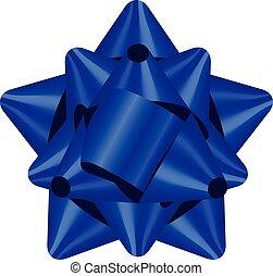 blaues, vektor, abbildung, schleife