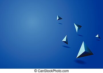 blaues, vektor, abstrakt, abbildung, prisma, hintergrund