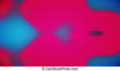blaues, video, punkte, rosa