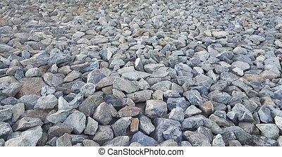 blaues, viele, grau, steinen
