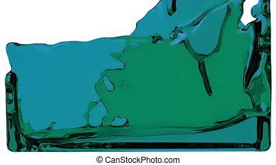 blaues, voll, flüssiglkeit, füllungen, auf, schirm, kanal, alpha, hd