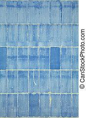 blaues, Wand, Abstrakt