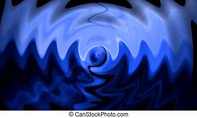blaues wasser, kräuselung