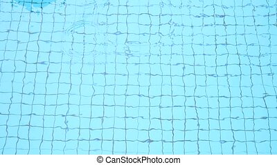 blaues wasser, schwimmbad, wellen