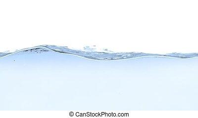 blaues wasser, weißes, spritzen, hintergrund