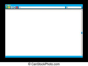 blaues, webinternet, schieber, browser
