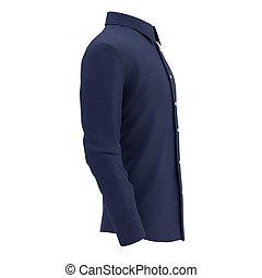 blaues, weißes hemd, hintergrund