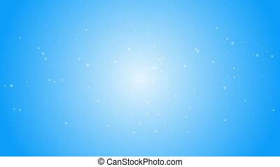 blaues, weißes, schneeflocken, hintergrund