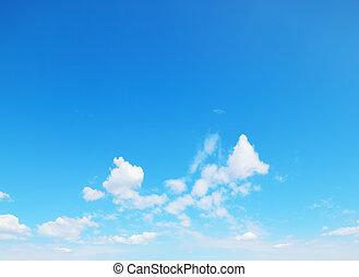 blaues, weich, wolkenhimmel, himmelsgewölbe