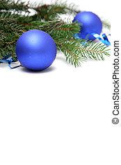 blaues, weihnachten, birnen