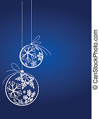 blaues, weihnachten, hintergrund