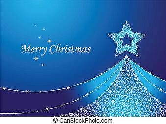 blaues, weihnachtsbaum