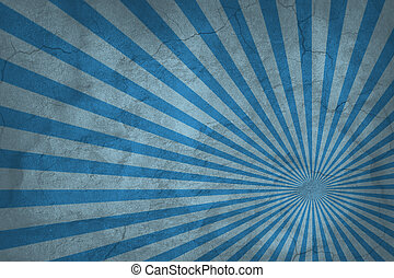 blaues, weinlese, abstrakt, steigend, hintergrundmuster, sun., sunburst, oder