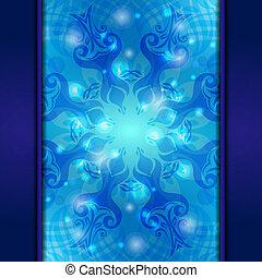 blaues, weinlese, vektor, abstrakt, hintergrund