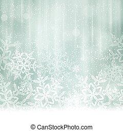 blaues, winter, abstrakt, hintergrund, weihnachten, silber