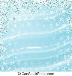 blaues, winter, hintergrund