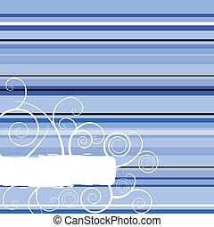 blaues, winter, streifen