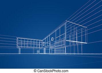 Blaupause, Architektur