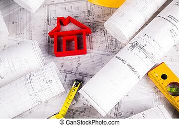 Blaupause, Entwicklung, Architektur
