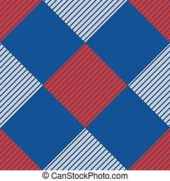 blauw, en, figuur, herhaal, ルード, naadloos, geometrische