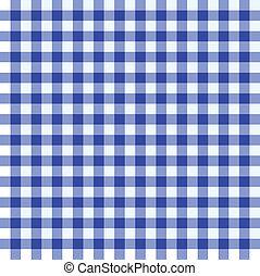 blauw en wit, tafelkleed