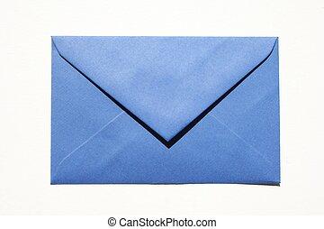 blauw envelope