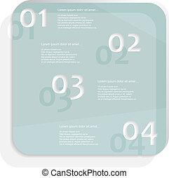 blauw glas, infographic