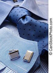 blauw hemd