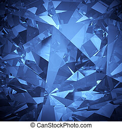 blauw kristal, facet, backgroun, luxe