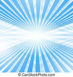 blauw licht, abstract, glad, achtergrond., perspectief