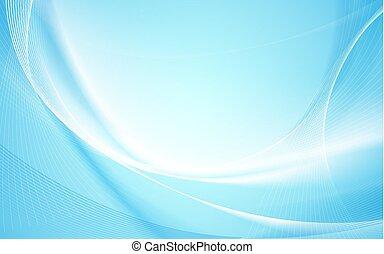 blauw licht, abstract, lijnen, vaag, golvend, achtergrond, gebogen