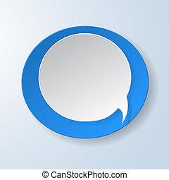 blauw licht, abstract, papier, toespraak, achtergrond, bel
