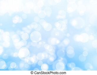 blauw licht, bokeh, abstract, achtergrond.