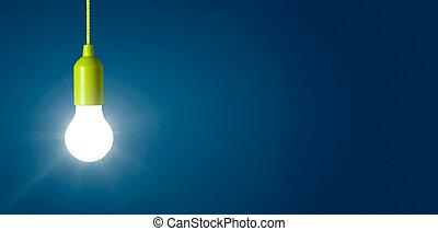 blauw licht, gloeiend, achtergrond, bol