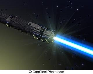 blauw licht, saber