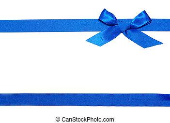 blauw lint, en, boog
