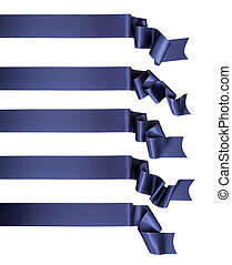 blauw lint, spandoek, verzameling