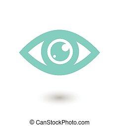 blauw oog, pictogram