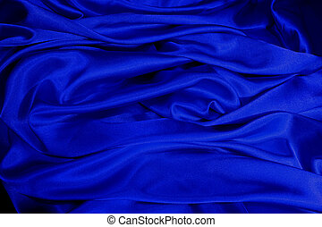 blauw satijn