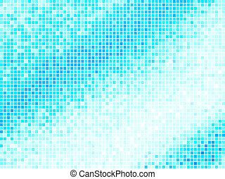 blauw vierkant, licht, abstract, achtergrond., veelkleurig, vector, tegel, pixel, mozaïek