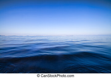 blauw water, abstract, achtergrond, zeezicht