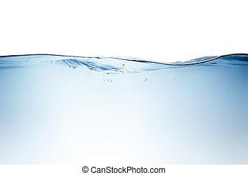 blauw water, golf, en, bellen, om te zuiveren, drinkwater