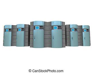 blauwe , #3, 3d, servers