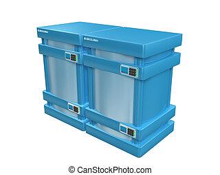 blauwe , 3d, servers, #2a