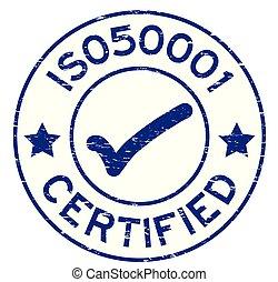 blauwe , 50001, grunge, postzegel, mark, rubber, iso, achtergrond, zeehondje, witte , ronde, pictogram