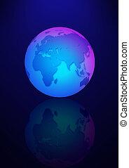 blauwe , aarde