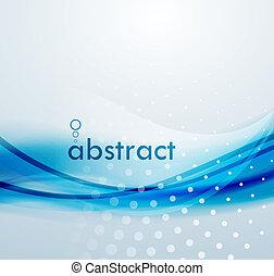 blauwe , abstract, achtergrond, golven