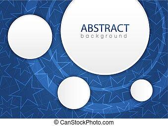 blauwe , abstract, achtergrond, sterretjes