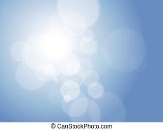blauwe , abstract, bokeh, minimaal, achtergrond, futuristisch