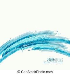 blauwe , abstract, corner., strepen, achtergrond